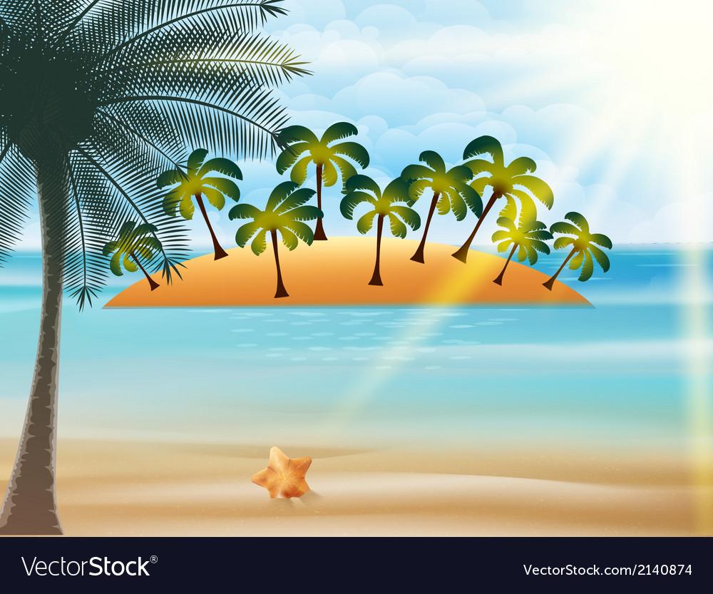 Beautiful Seaside View Poster