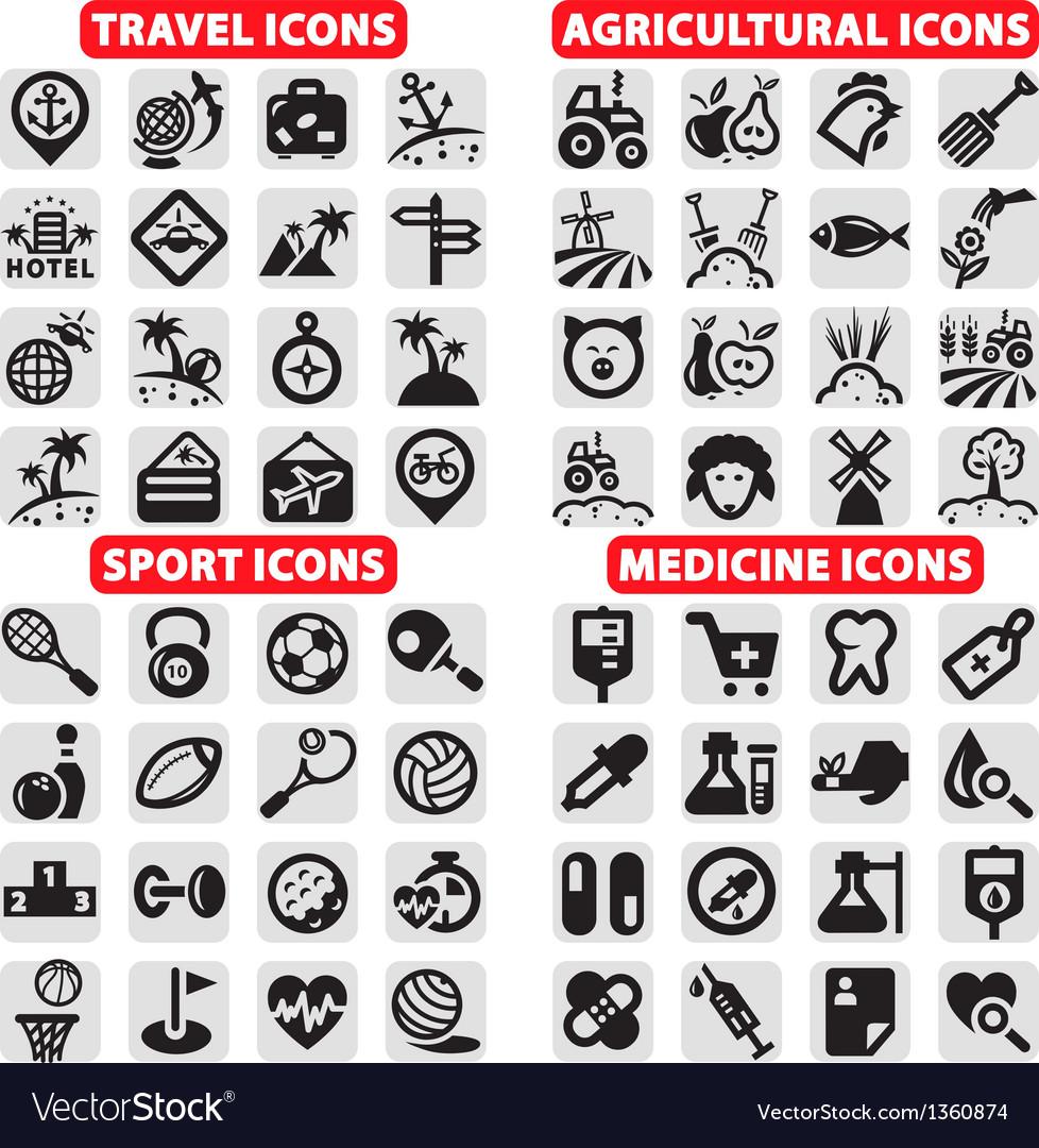 Big icons set vector image
