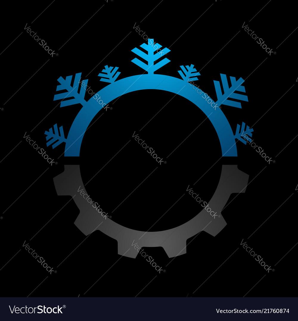Blue abstract circle logo medical new technology