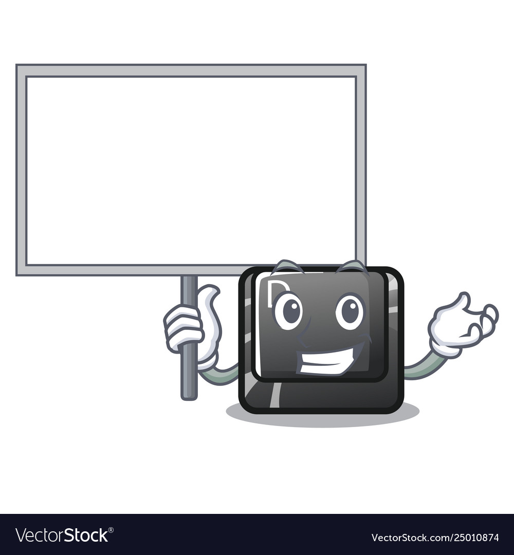 Bring board button d on a computer mascot