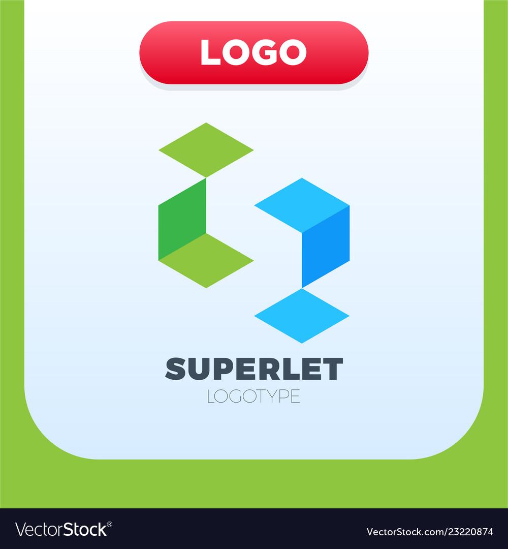 Business corporate letter s logo design