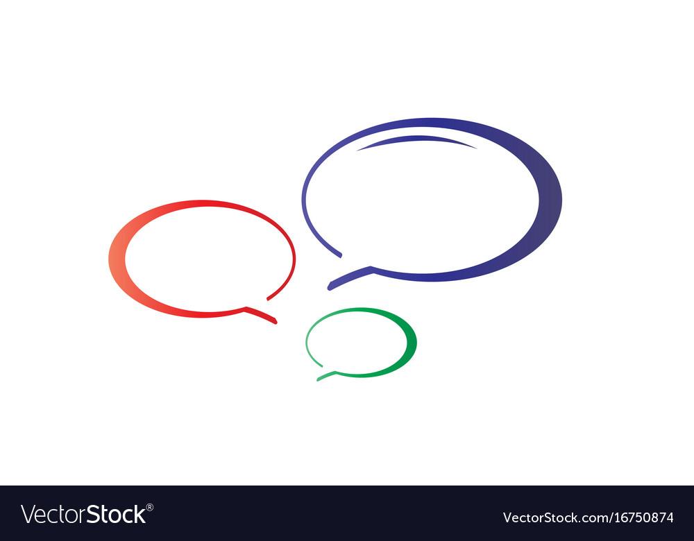 Colorful talk bubbles icon
