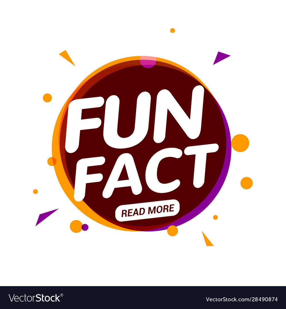 Fun fact typography bubble did you know knowledge