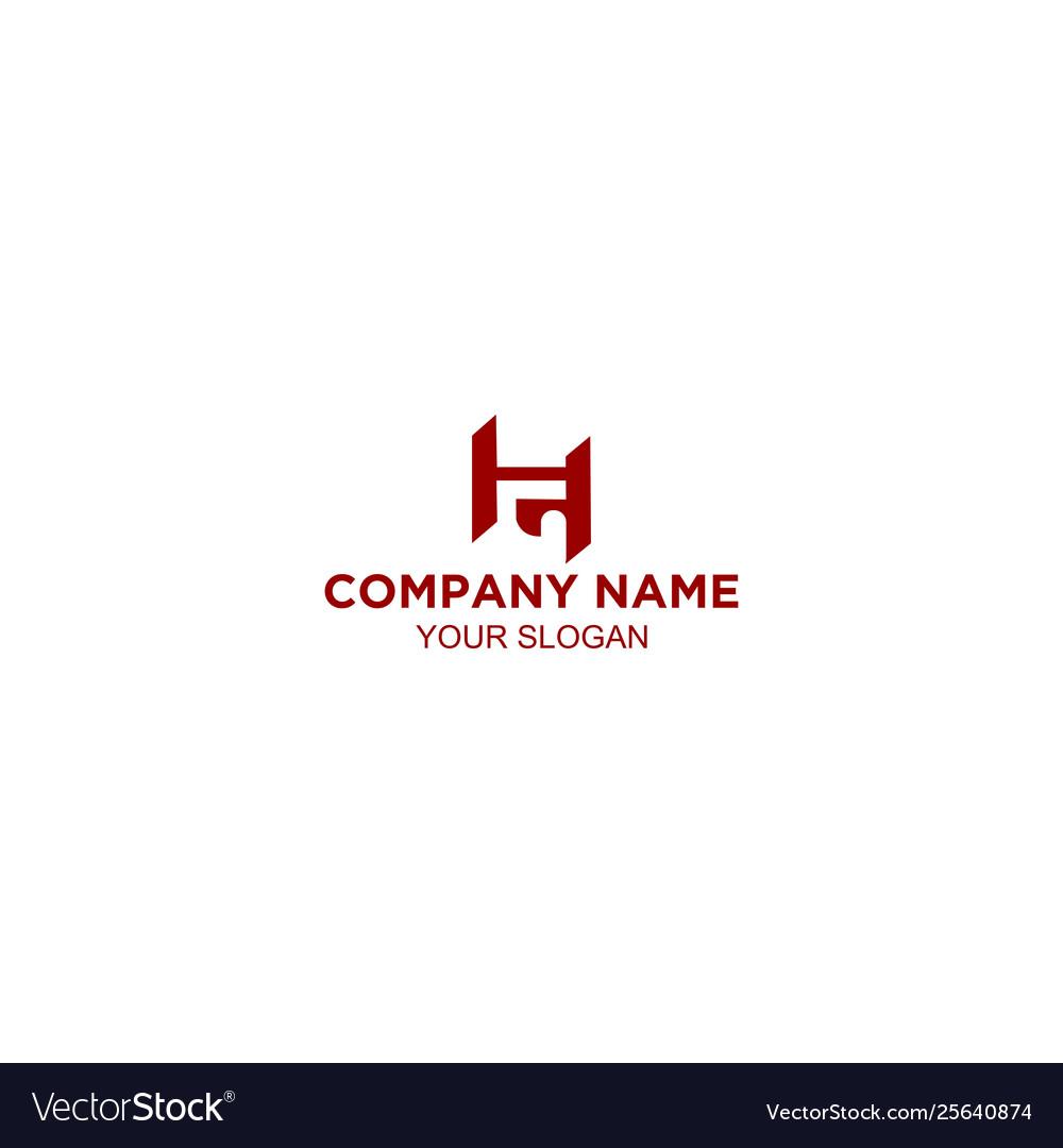 Initial hg letter logo design
