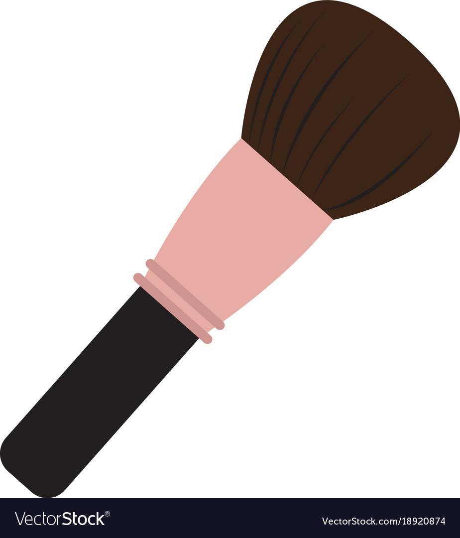 makeup brush Royalty Free Vector Image