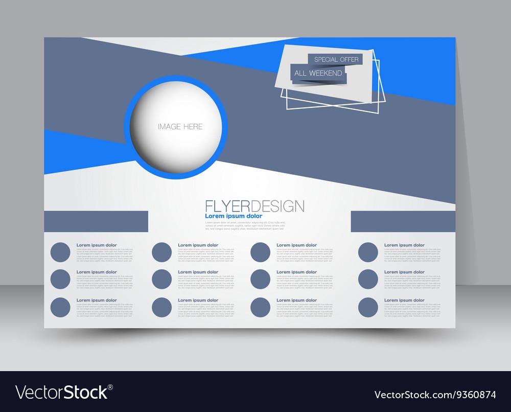landscape billboard flyer or brochure template vector image