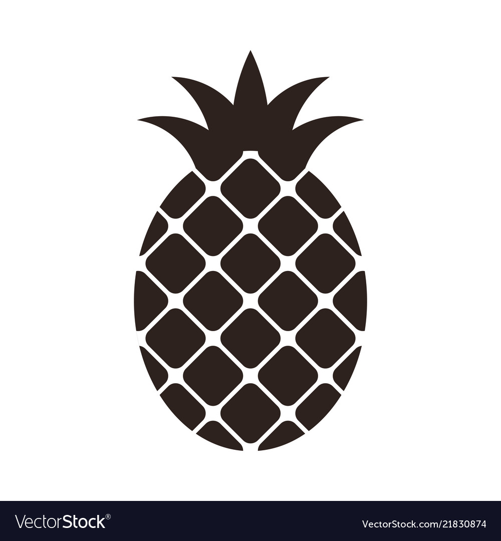 Pineapple icon isolated on white background