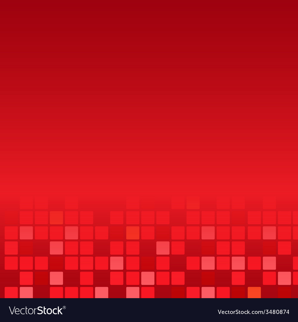 Red Mosaic Poster