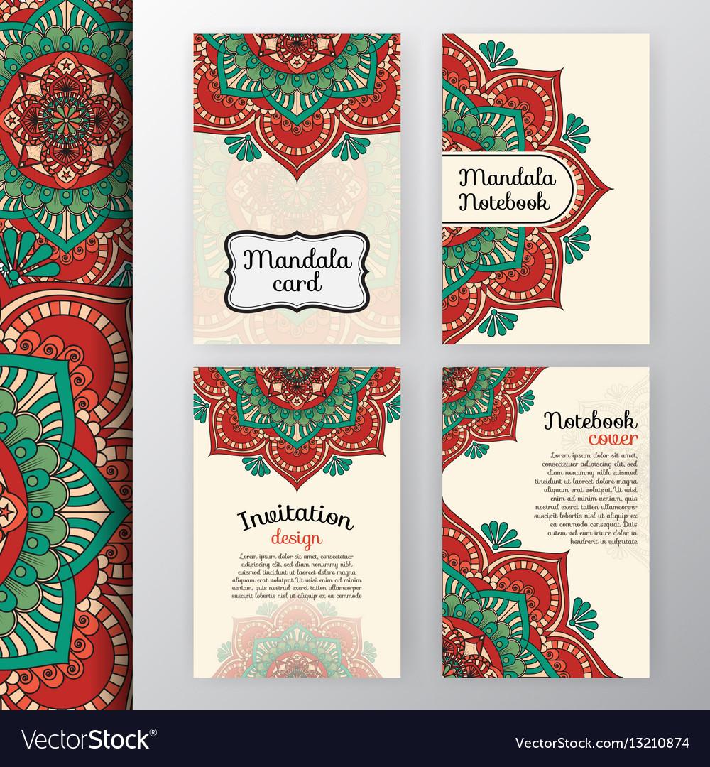 Vintage invitation and background design