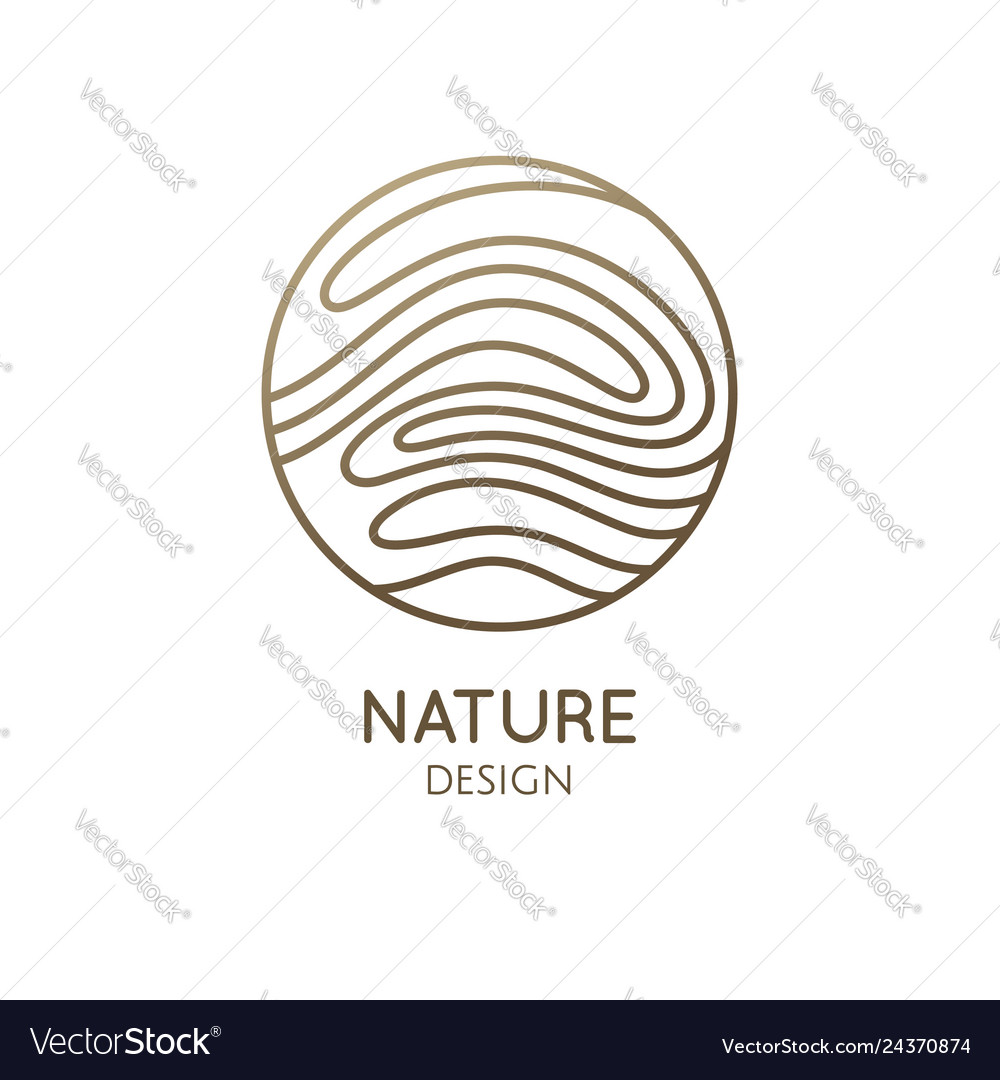 Wavy lines structure logo