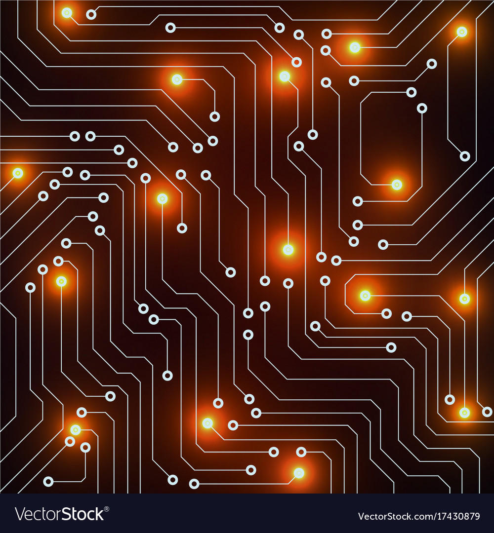 Abstract Circuit Board Technology Background Vector Image Design
