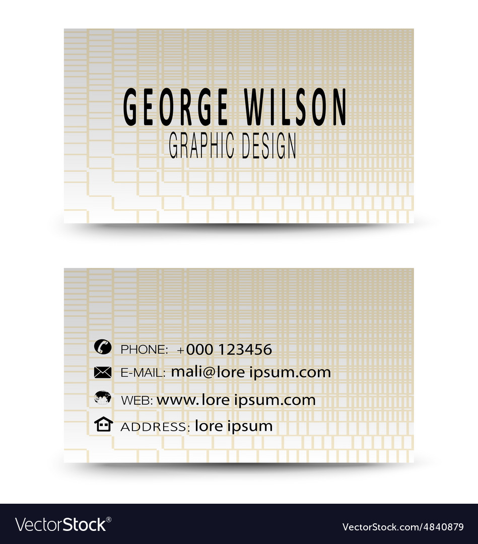 Business card gold