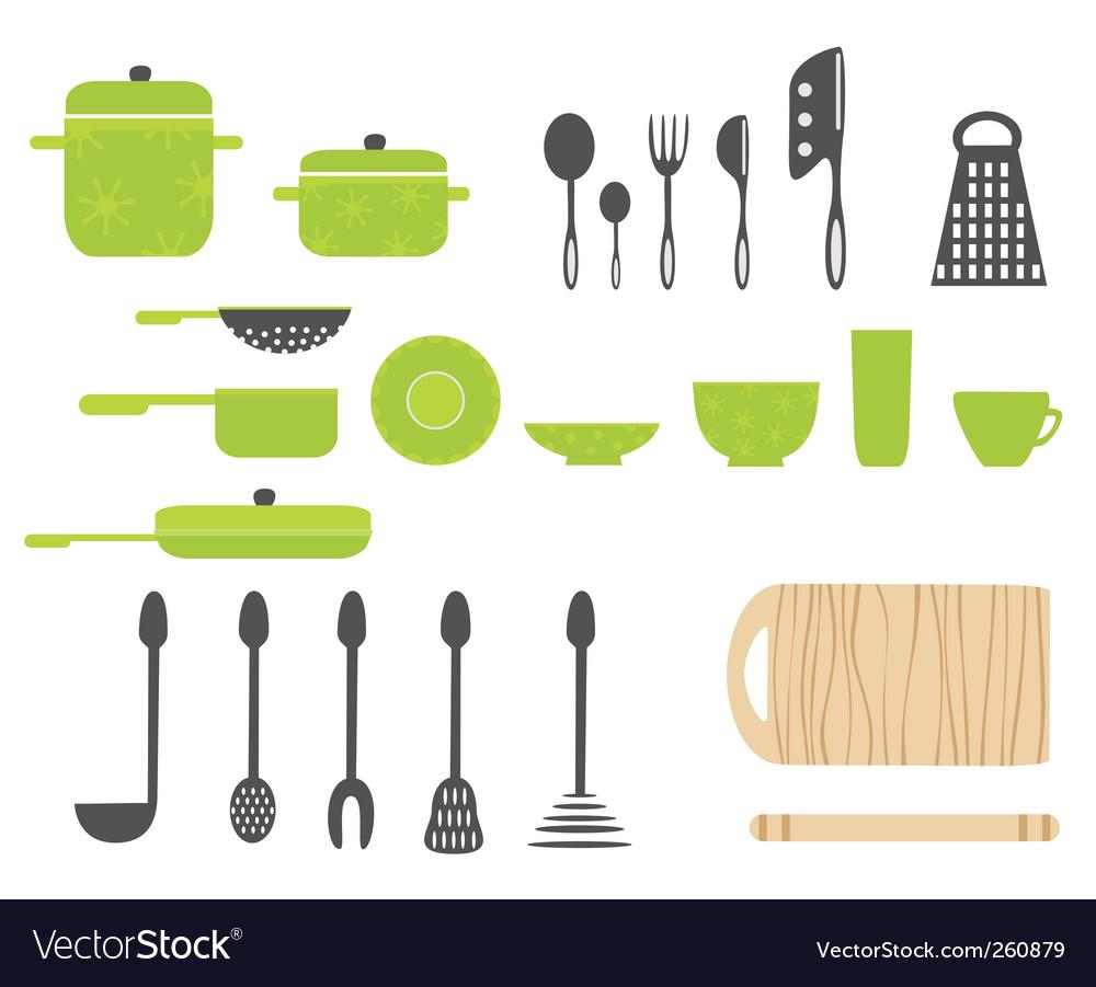 Cartoon kitchen vector image
