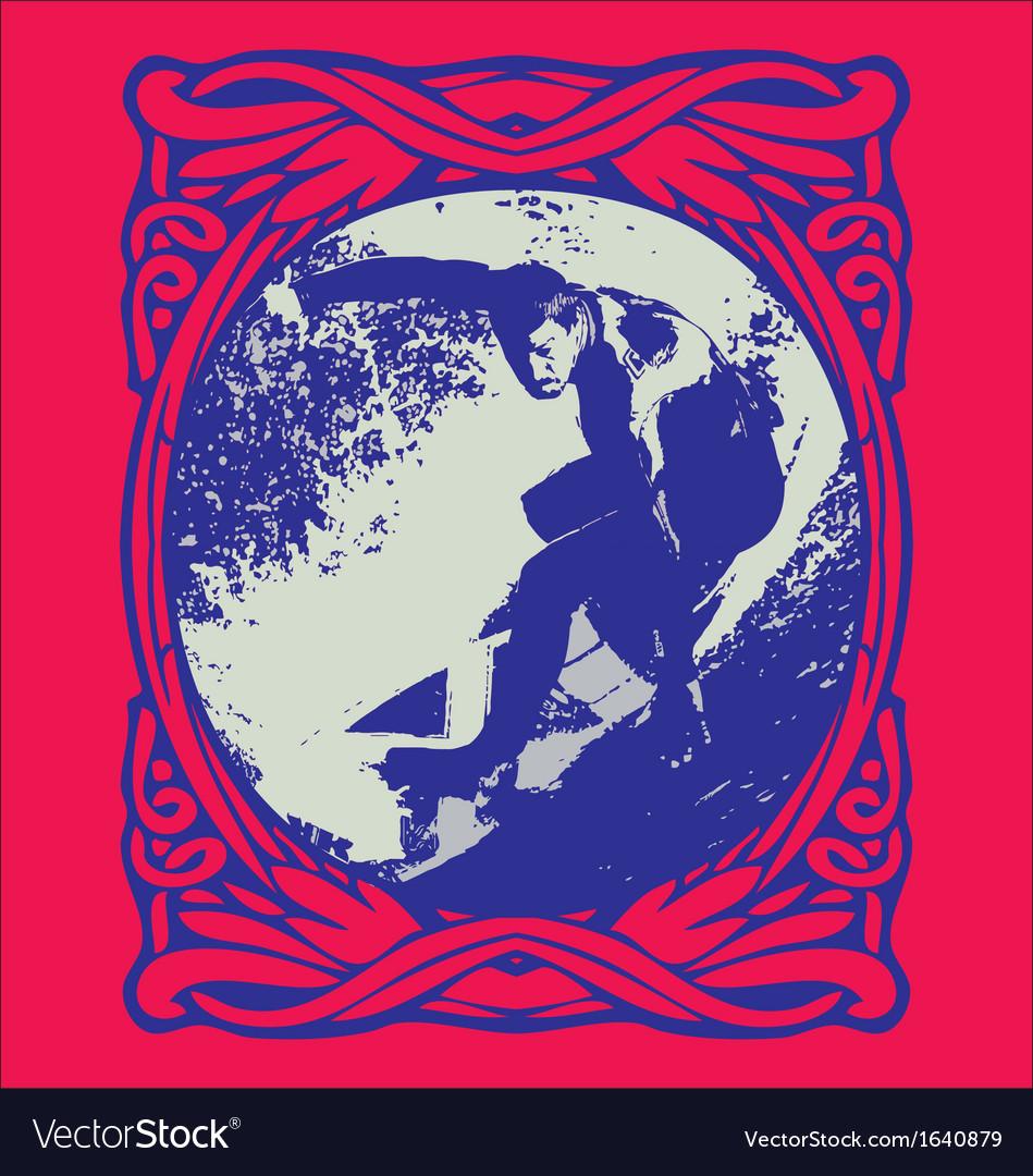 Grunge surfer