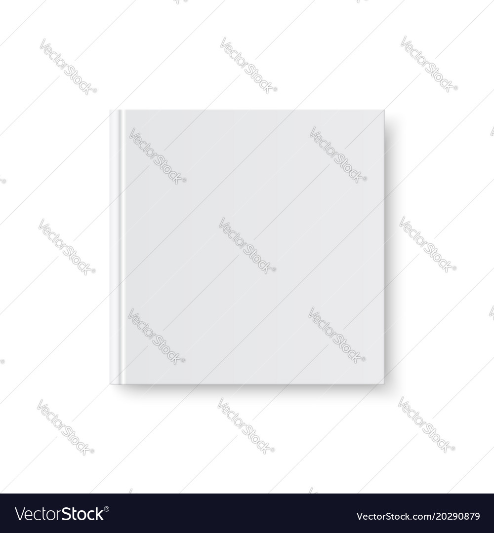 Mock up of book white blank cover vector image