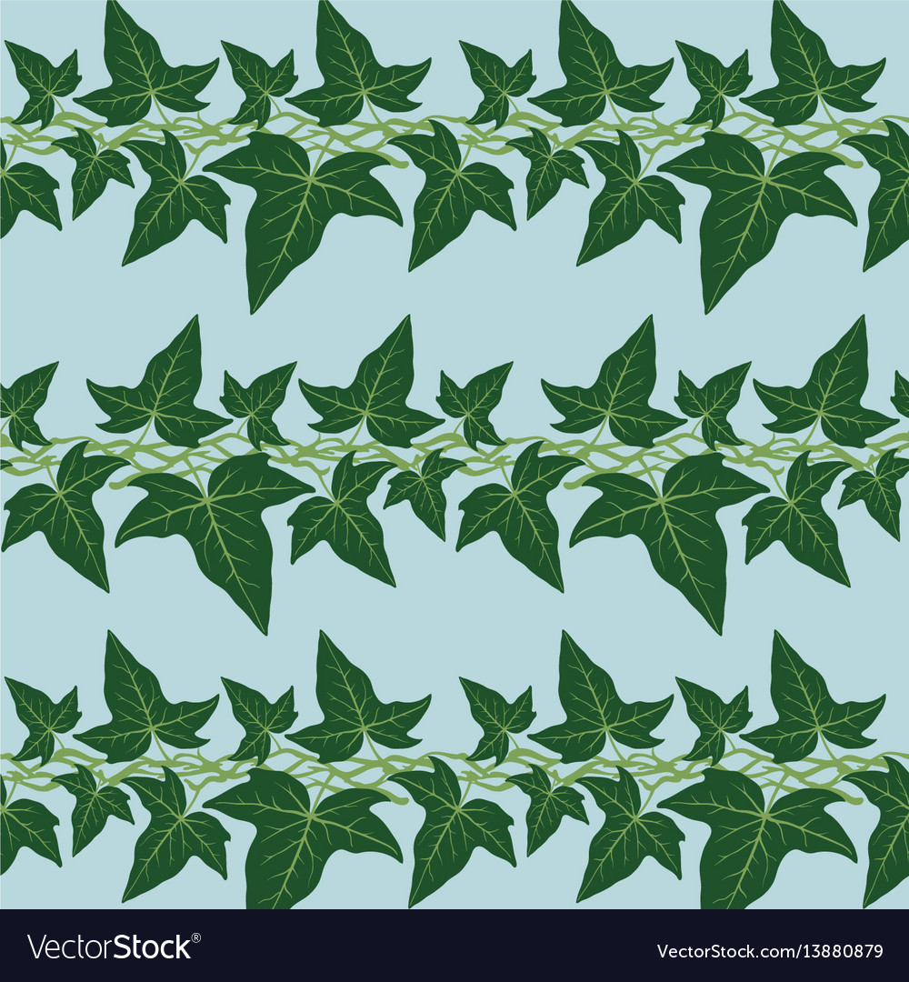 Seamless pattern with the ivy leaves