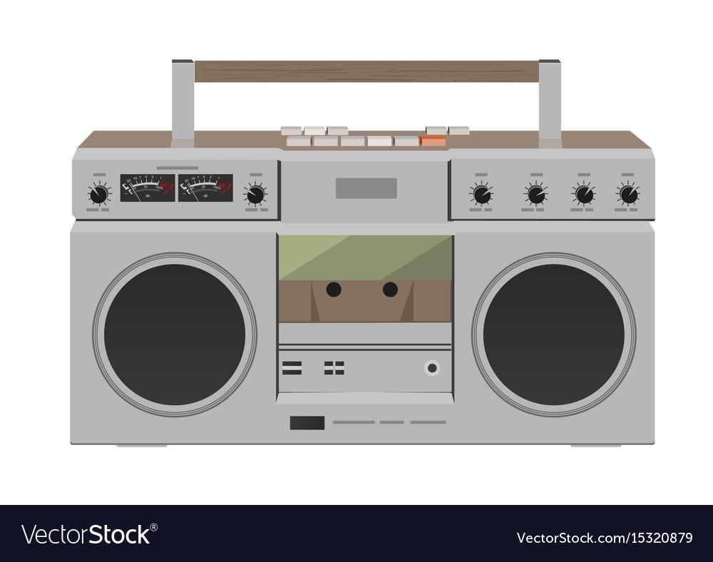 Stereo radio cassette recorder flat desing