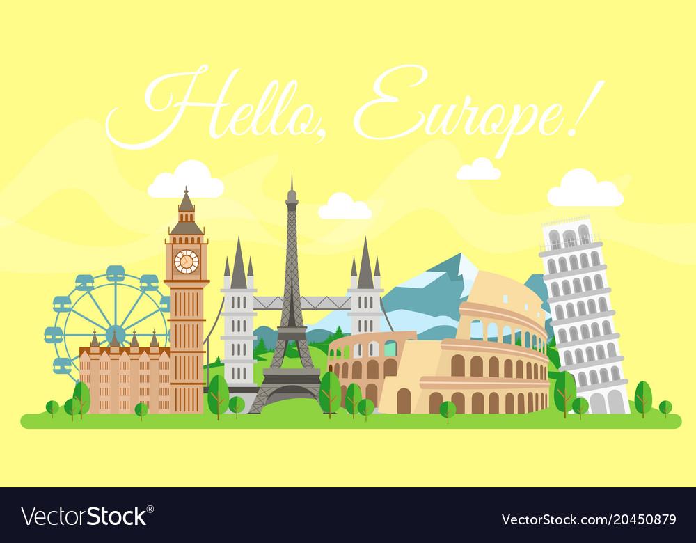 Travel concept hello