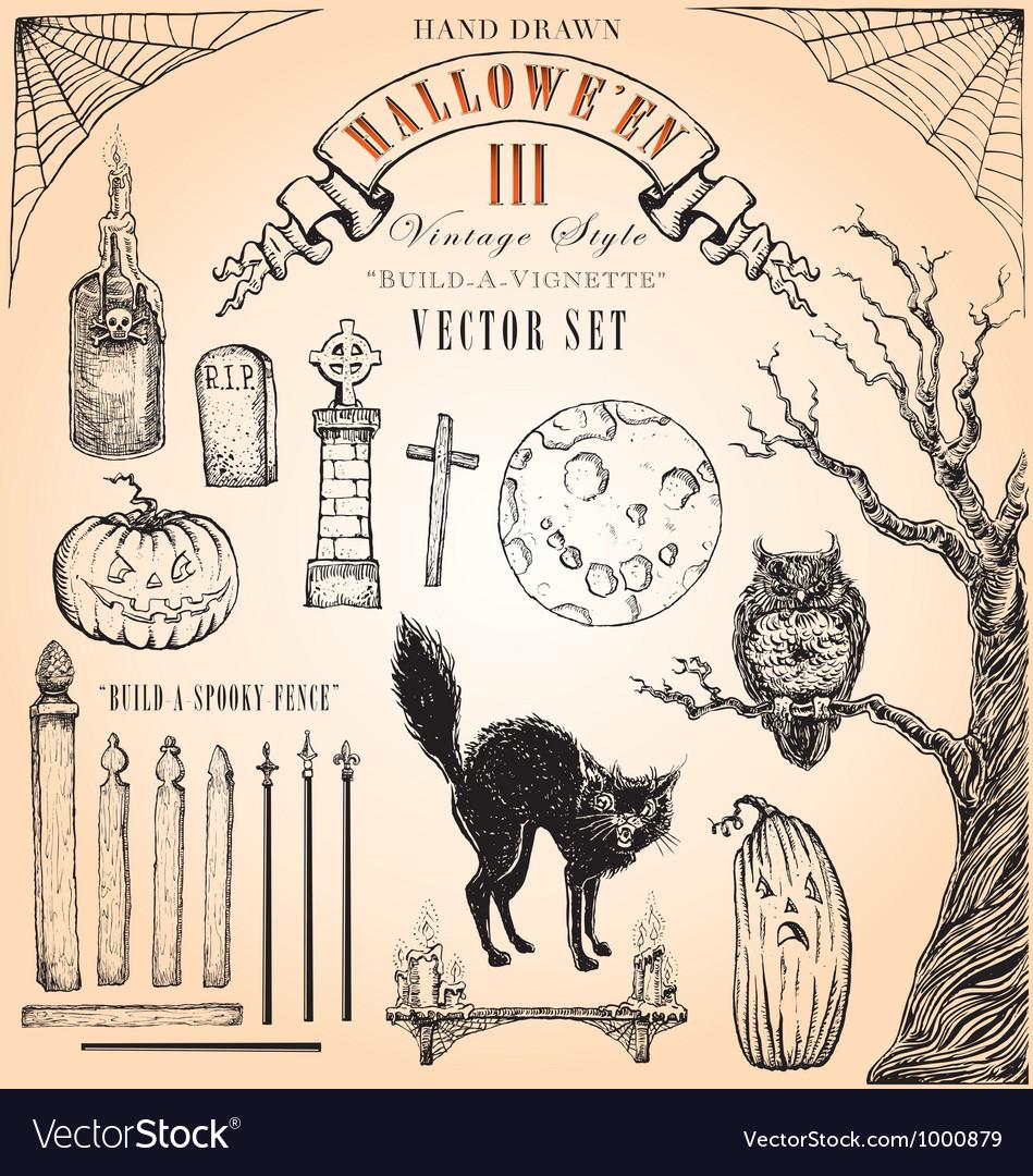 Vintage Halloween Set