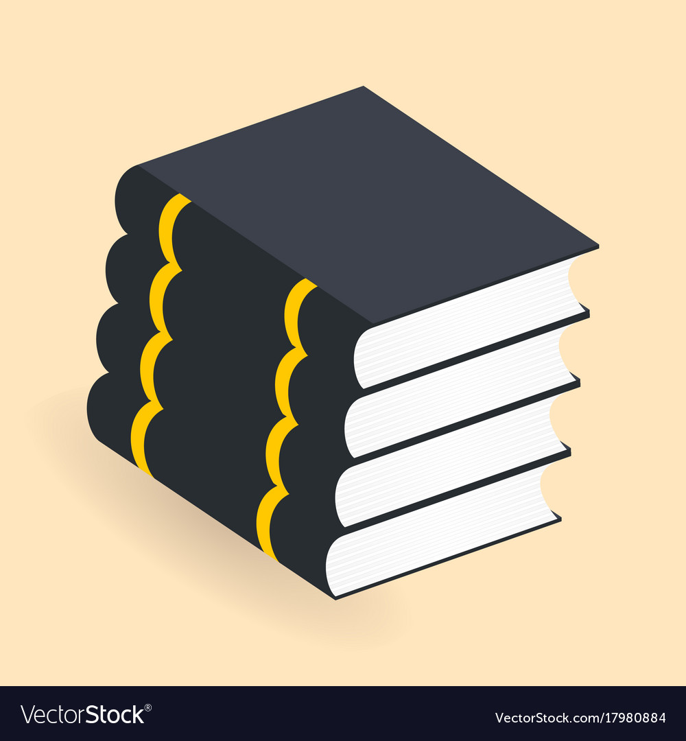 Books stack icons isolated pictogram for your