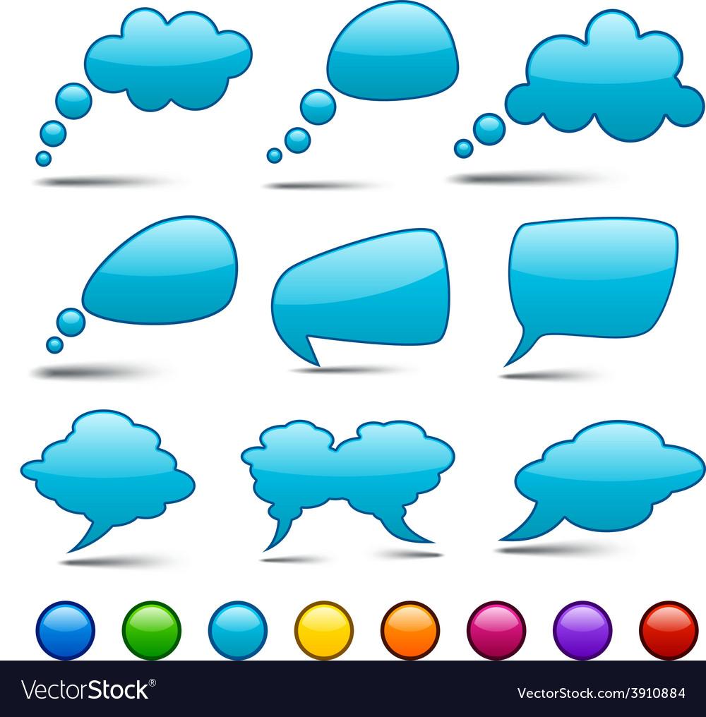 Color speech bubbles