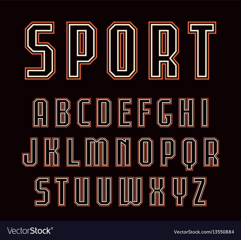 Contour sanserif font in sport style