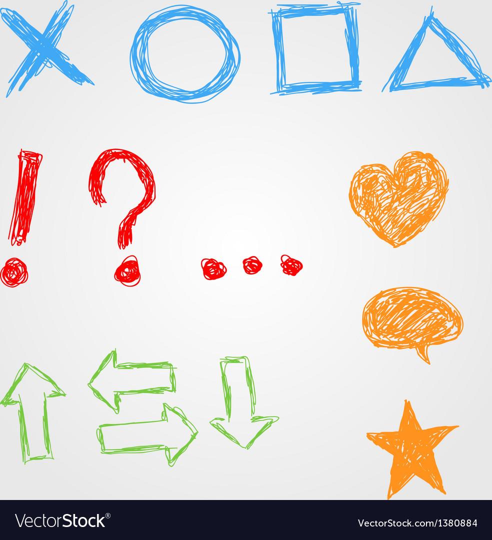Hand drawn symbols