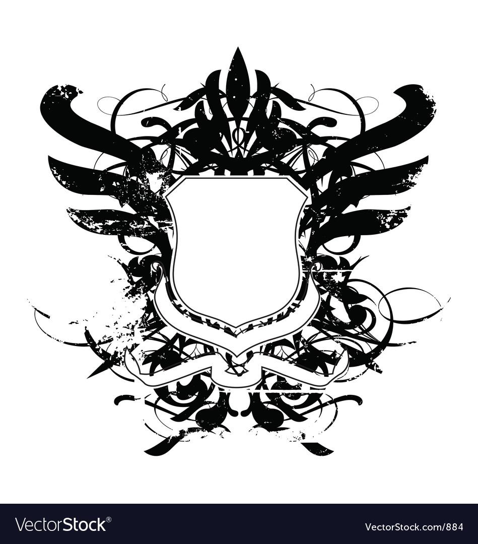 Heraldry shield grunge