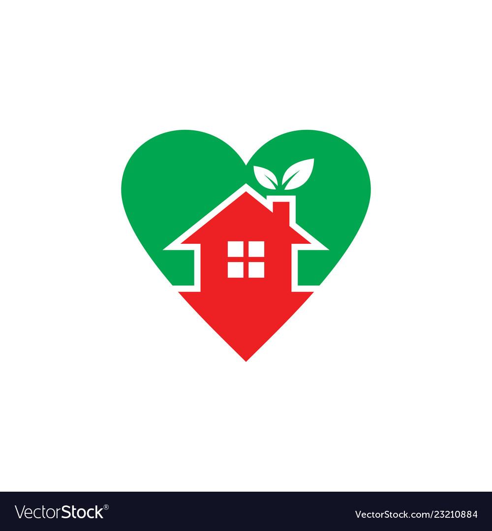 Home eco leaf logo
