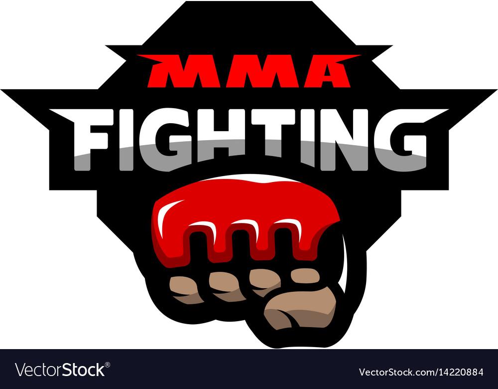 Mma Fighting Logo Royalty Free Vector Image Vectorstock