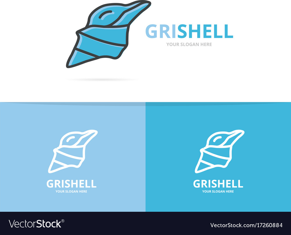 Mollusk and shell logo design template