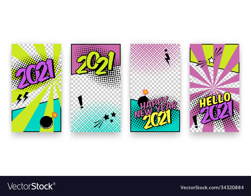 Trendy editable winter happy 2021 new year and