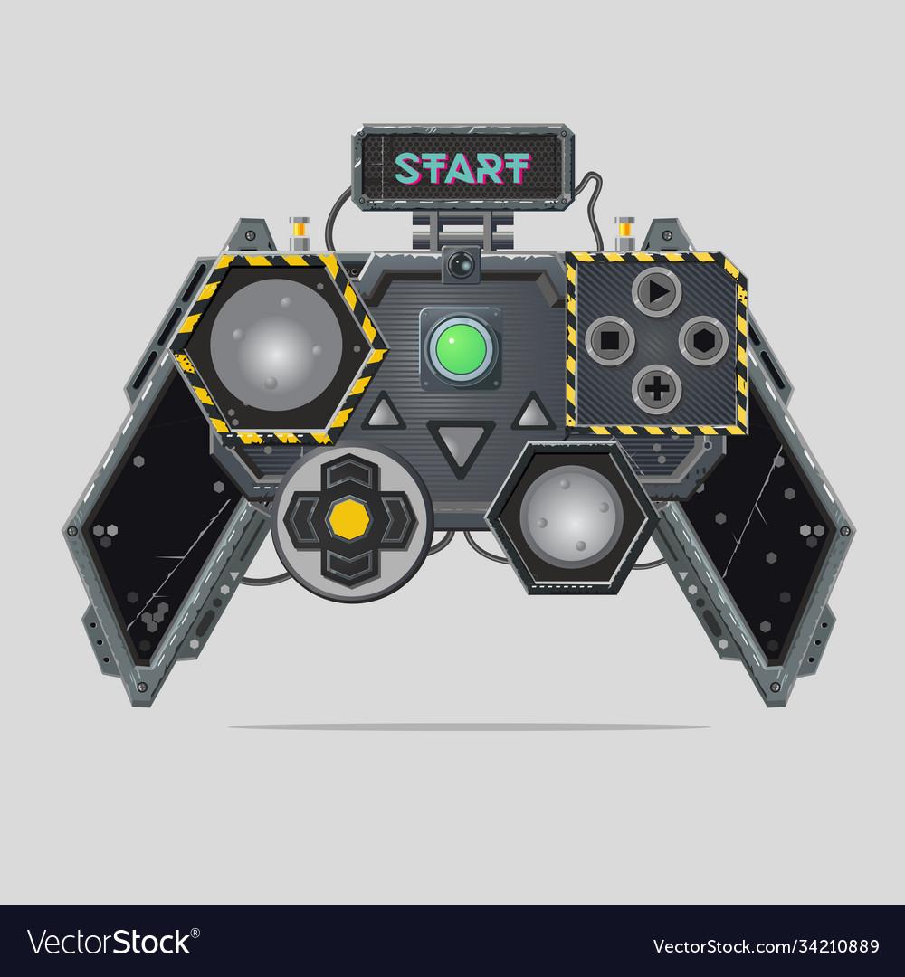 Cyberpunk style gamepad videogame joystick