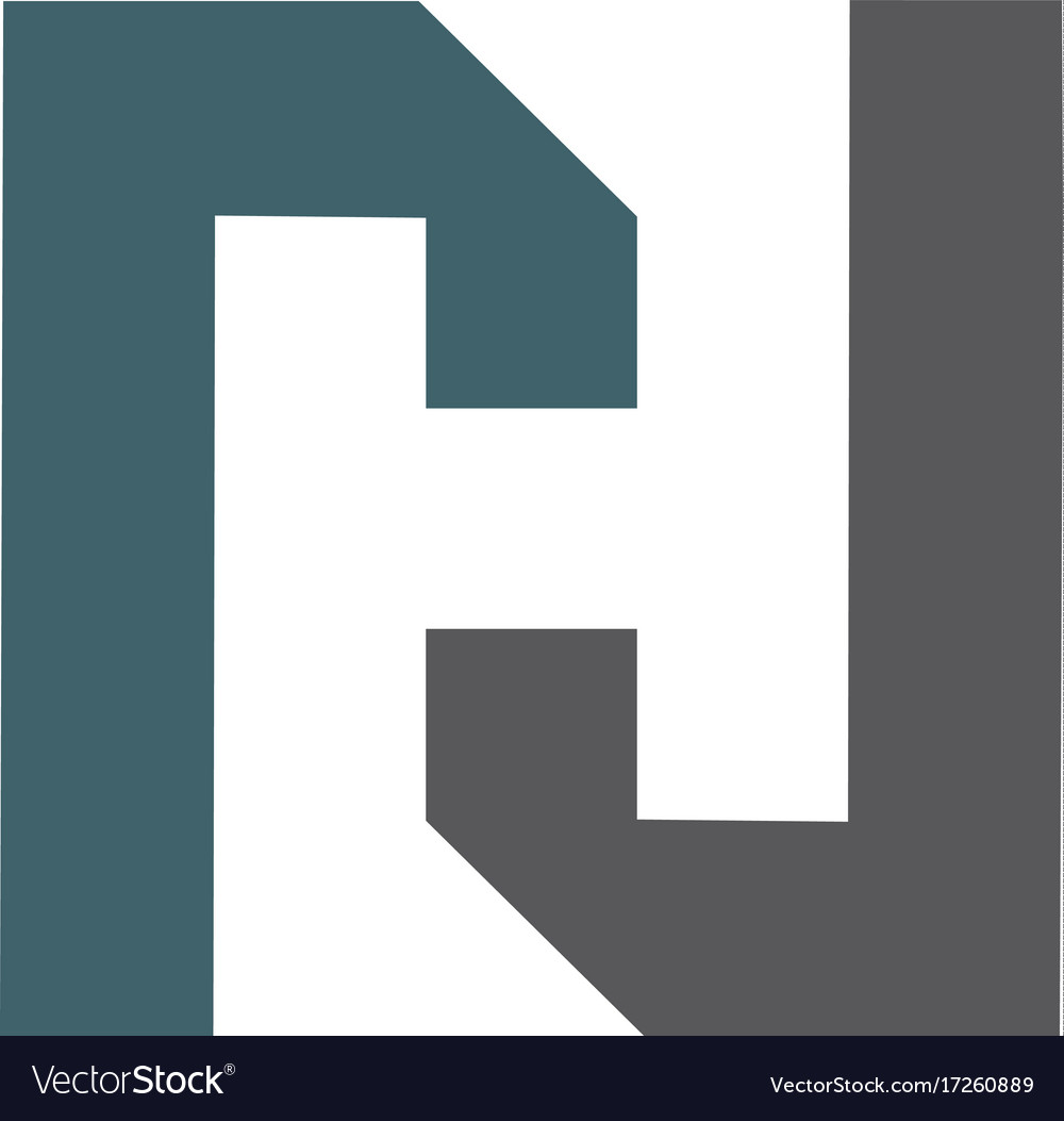 letter h logo icon design template royalty free vector image