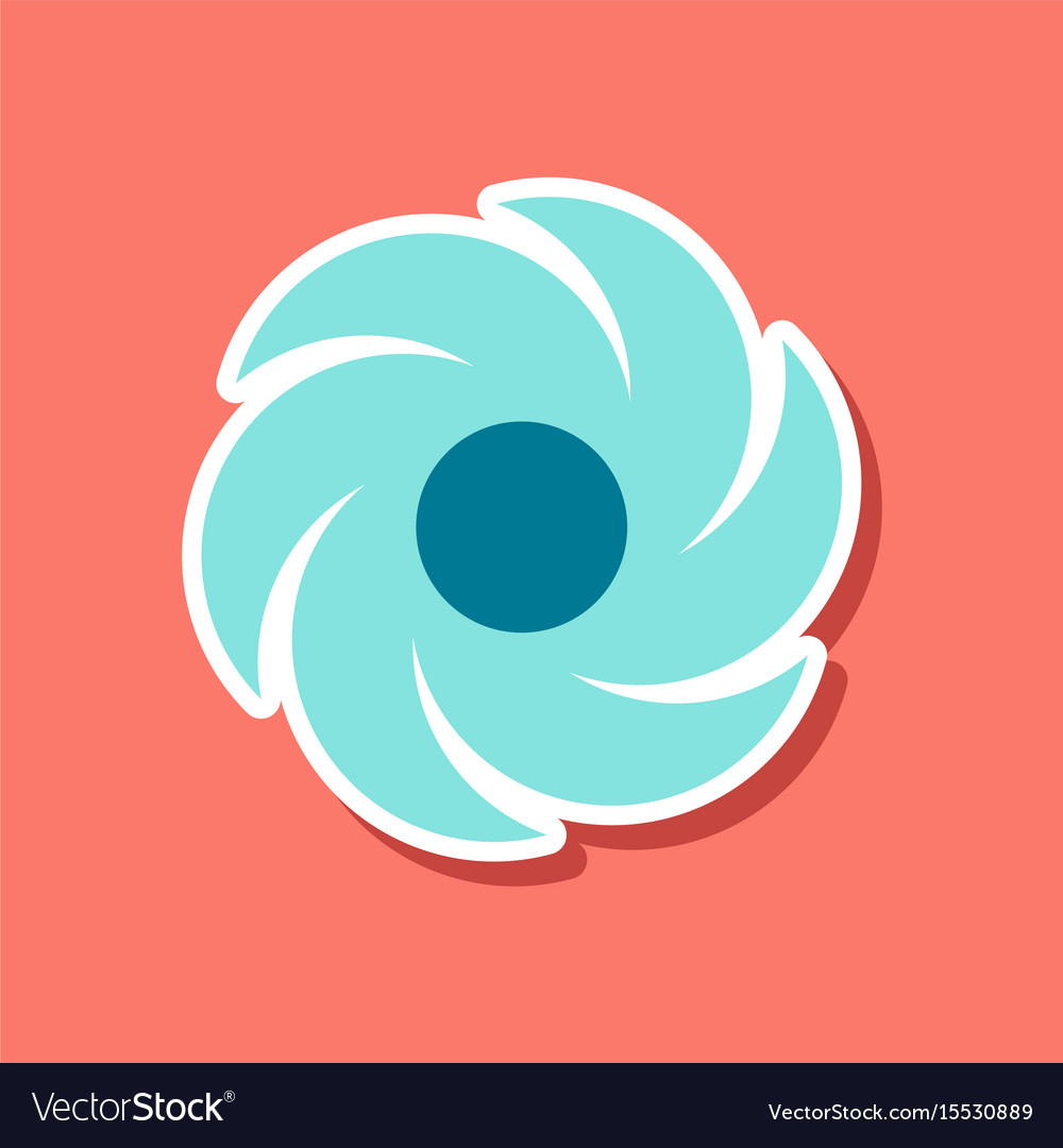 flat paper pinwheel windmill toy icon