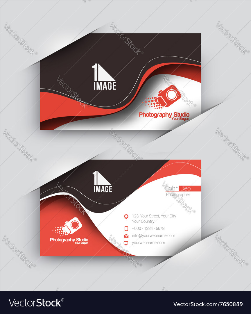 Photography Studio Business Card Set Royalty Free Vector