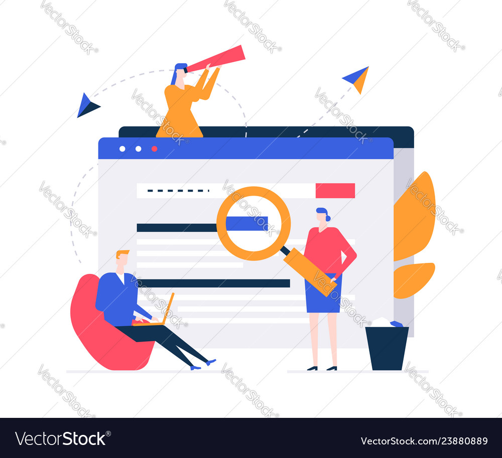 Search concept - flat design style colorful