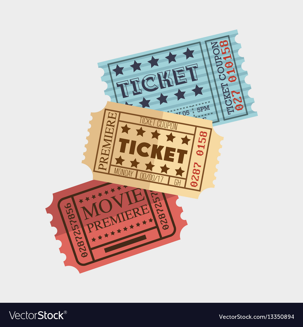 Cinema ticket entrance icon