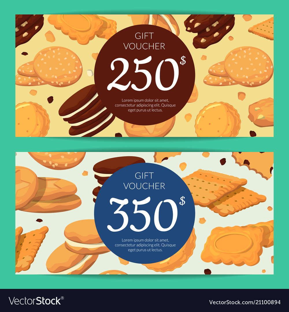 Discount or gift card voucher templates vector image
