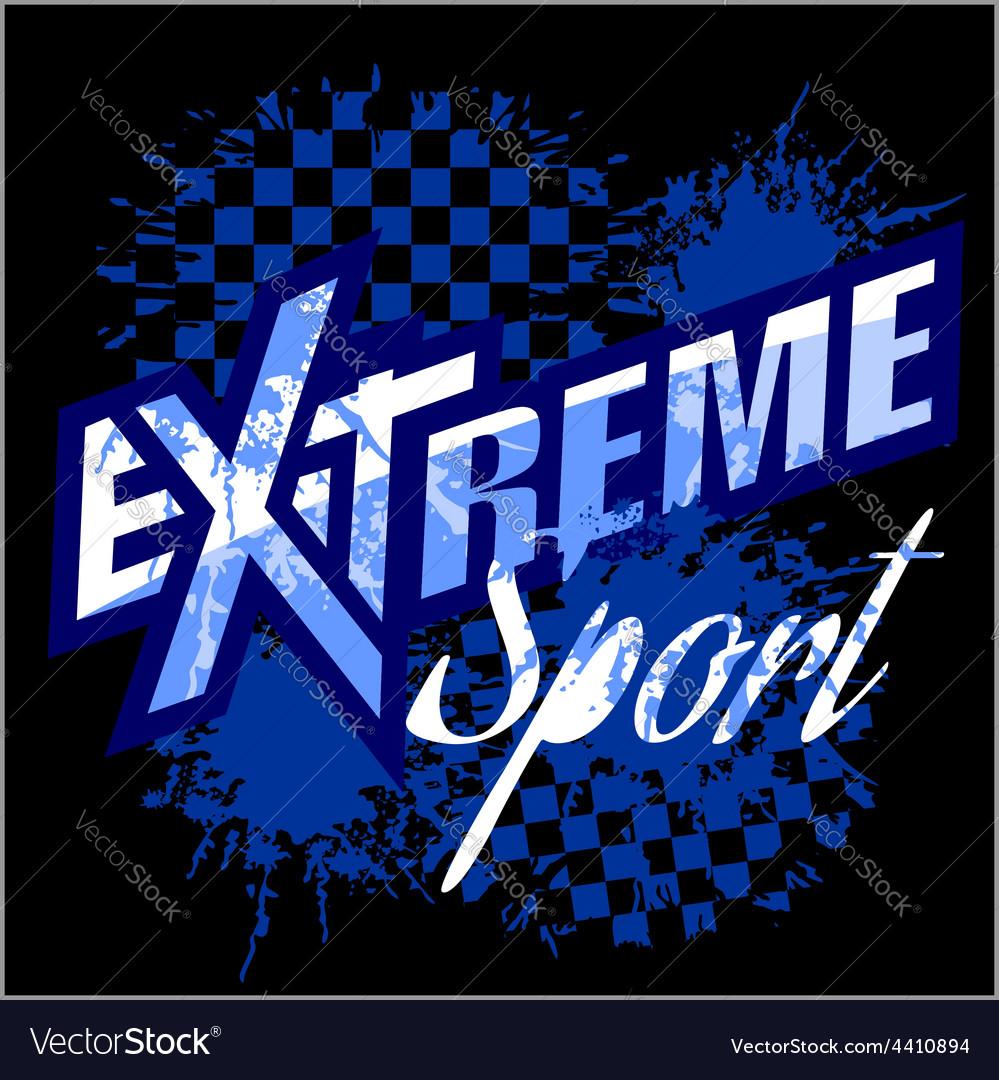 EXtreme sport - logo for tshirt