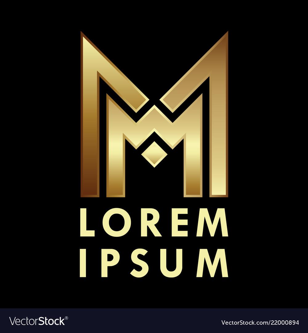 Letter m logo alphabet logotype design