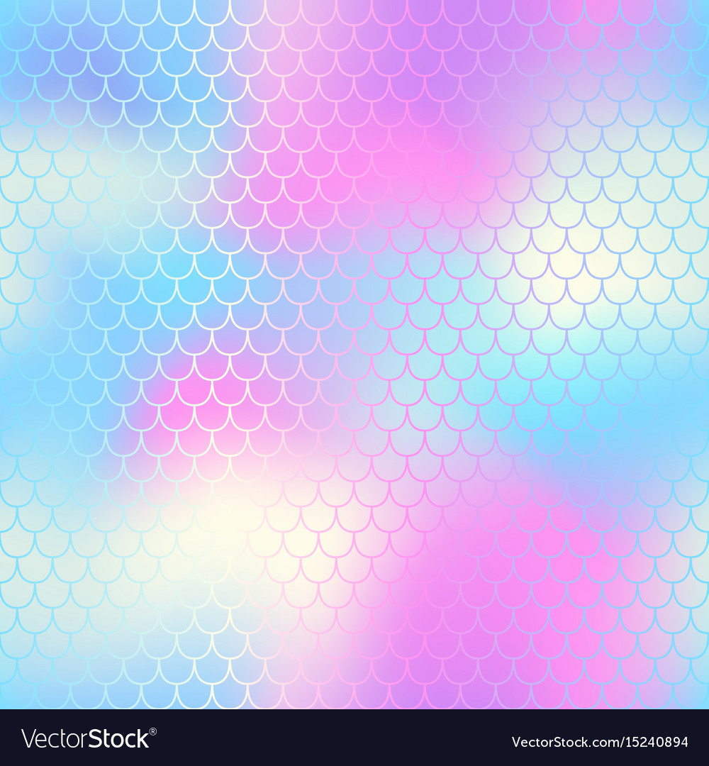Mermaid tail with fish scale seamless pattern for
