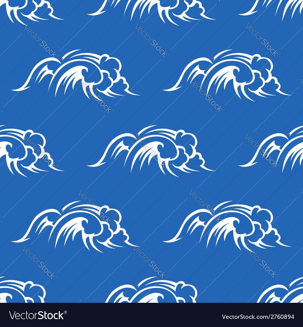 Ocean waves seamless pattern vector image