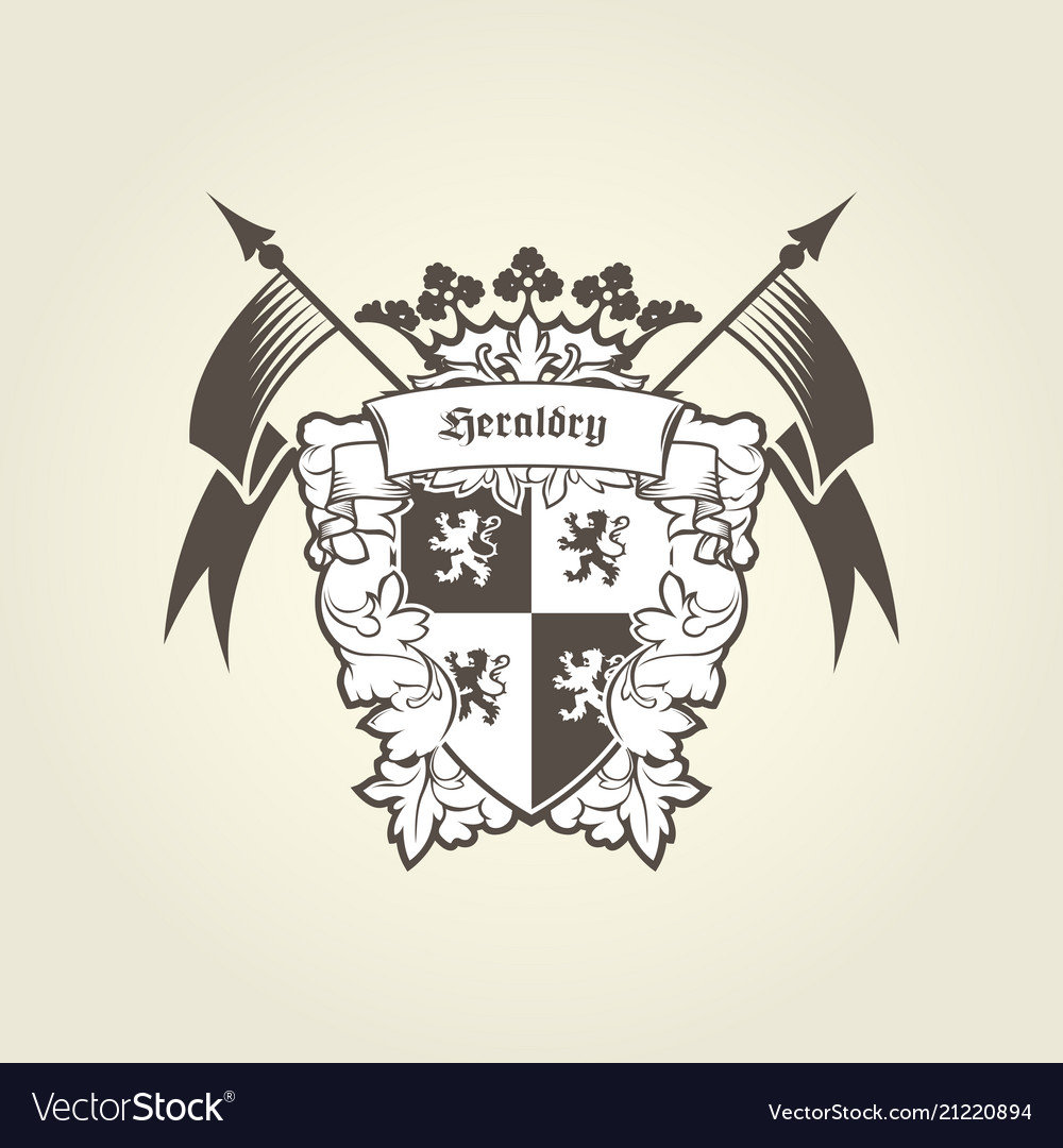 Royal coat arms - heraldic blazon emblem