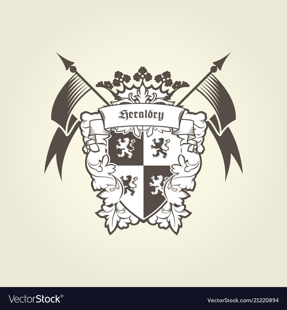 Royal coat of arms - heraldic blazon emblem
