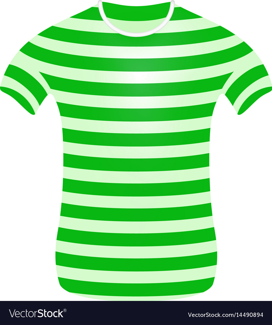 24a6e73c91ddb4 Striped t-shirt in green and white design Vector Image