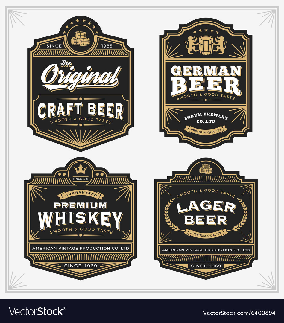 Vintage frame design for labels banner sticker vector image