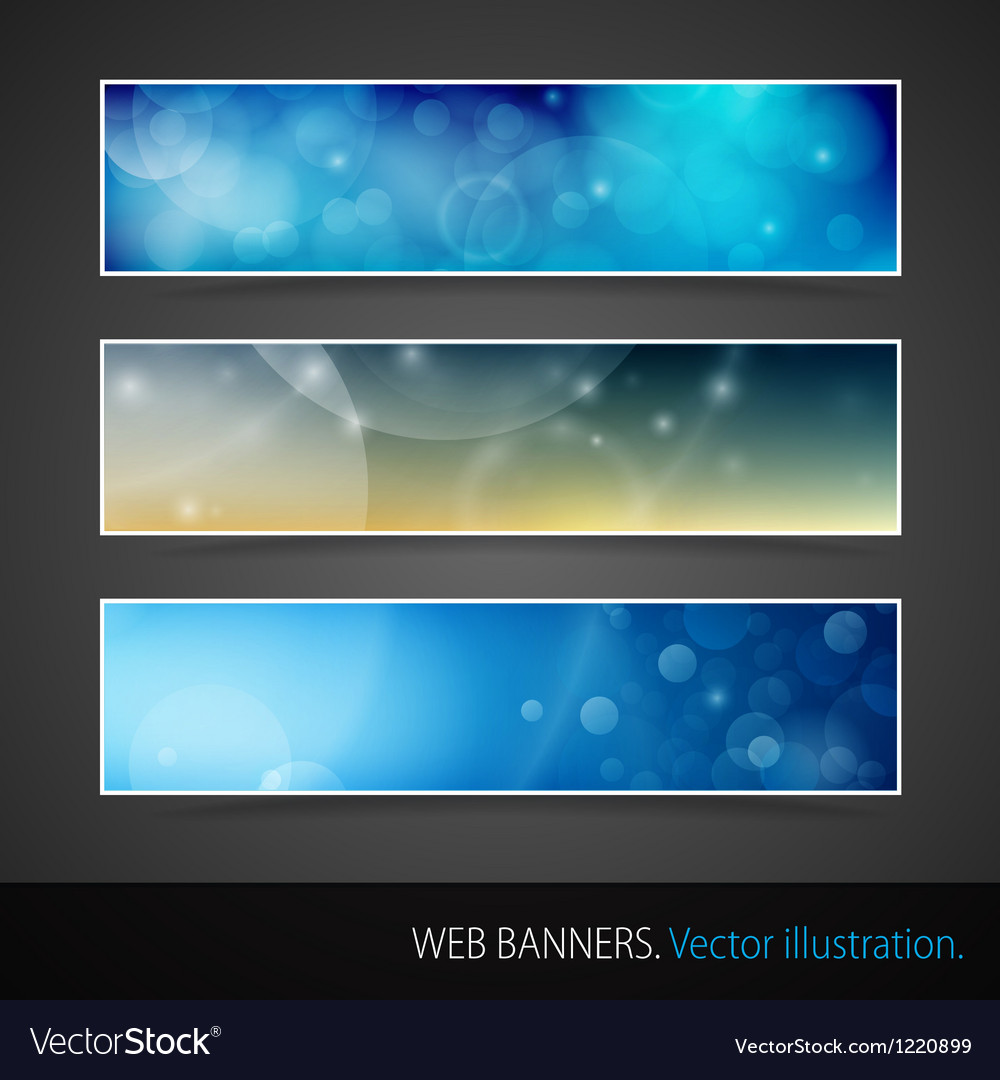 Abstract Banner With Bokeh