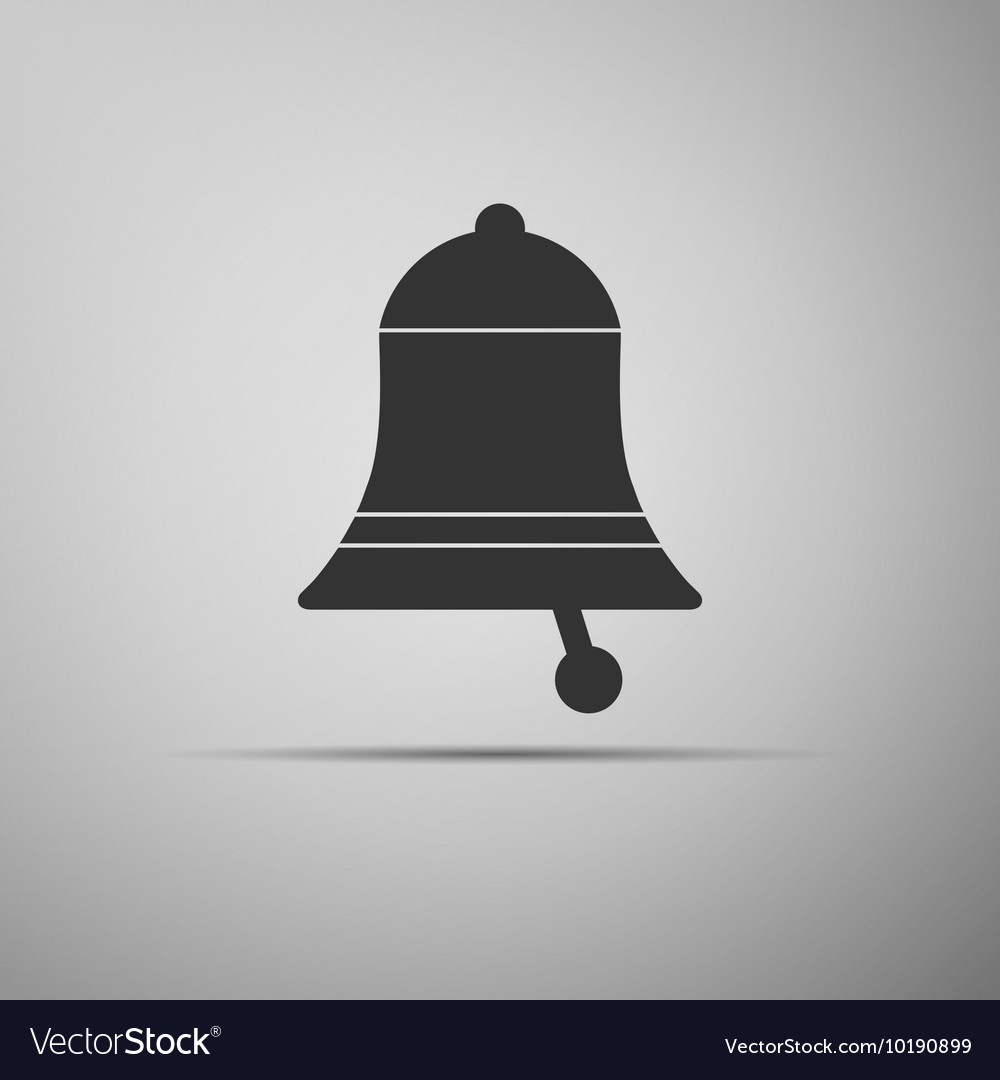 Bell icon on grey background Adobe