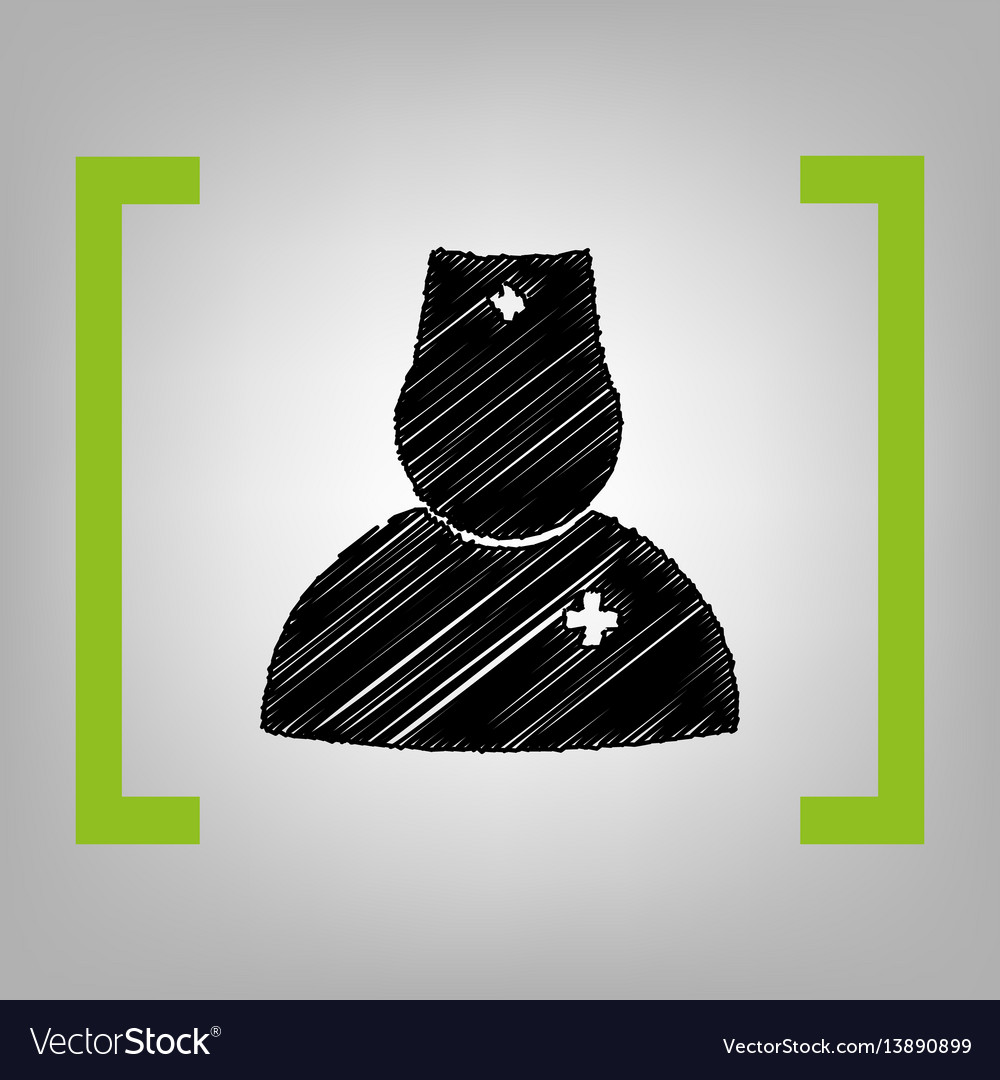 Doctor sign black scribble vector image